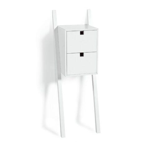 Luton sängbord två lådor vitlack