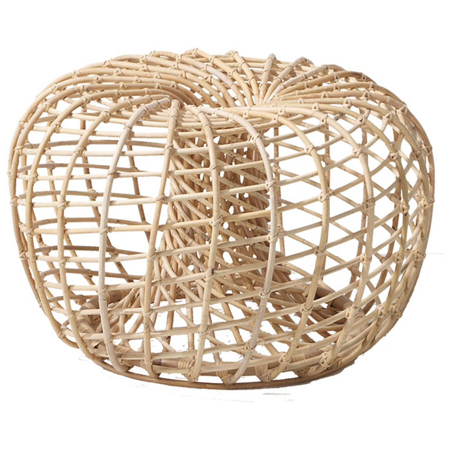 Nest fotpall i rotting från Cane-Line.