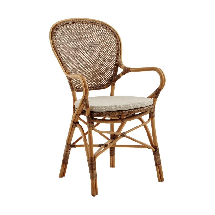 Rossini karmstol i färgen körsbär med sittdyna.