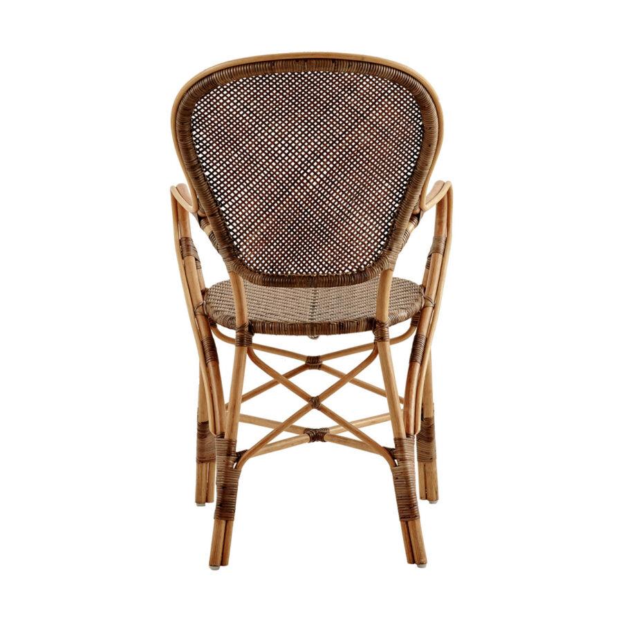 Bild på ryggen av Rossini karmstol i färgen körsbär.