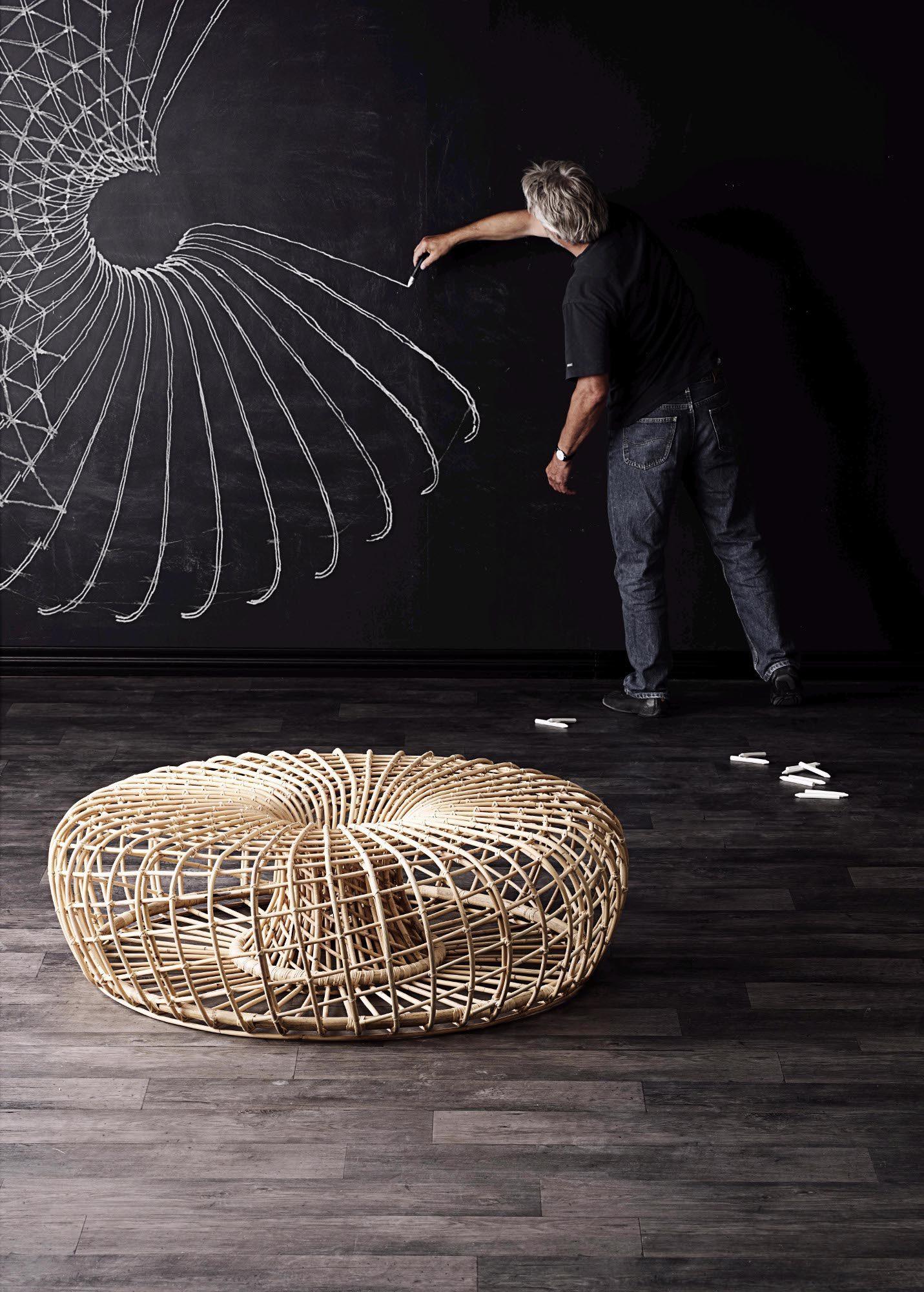 Nest stor fotpall i miljö.