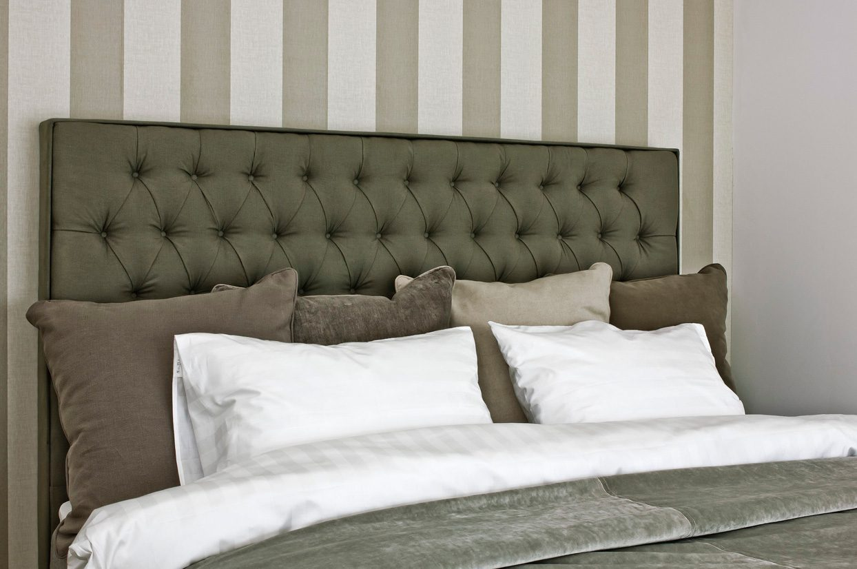 Inspirationsbild på Solhall sänggavel i grönt.
