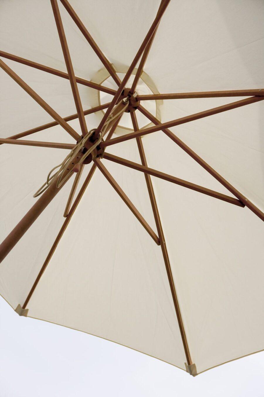 Detaljbild på Messina parasoll i storleken 270 cm.