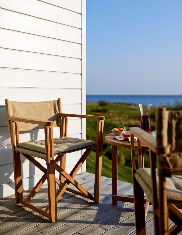 Miljöbild på Kryss stolen i canvas.