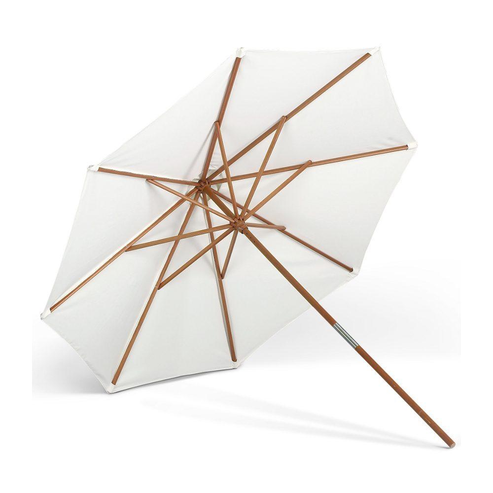Carania parasoll i Meranti-trä med storleken Ø 270 cm.