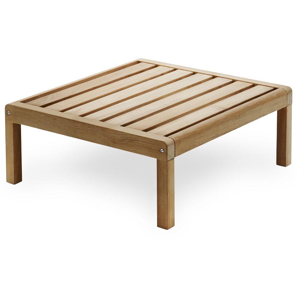 Virkelyst pall/bord i teak med måtten 75x70 cm.