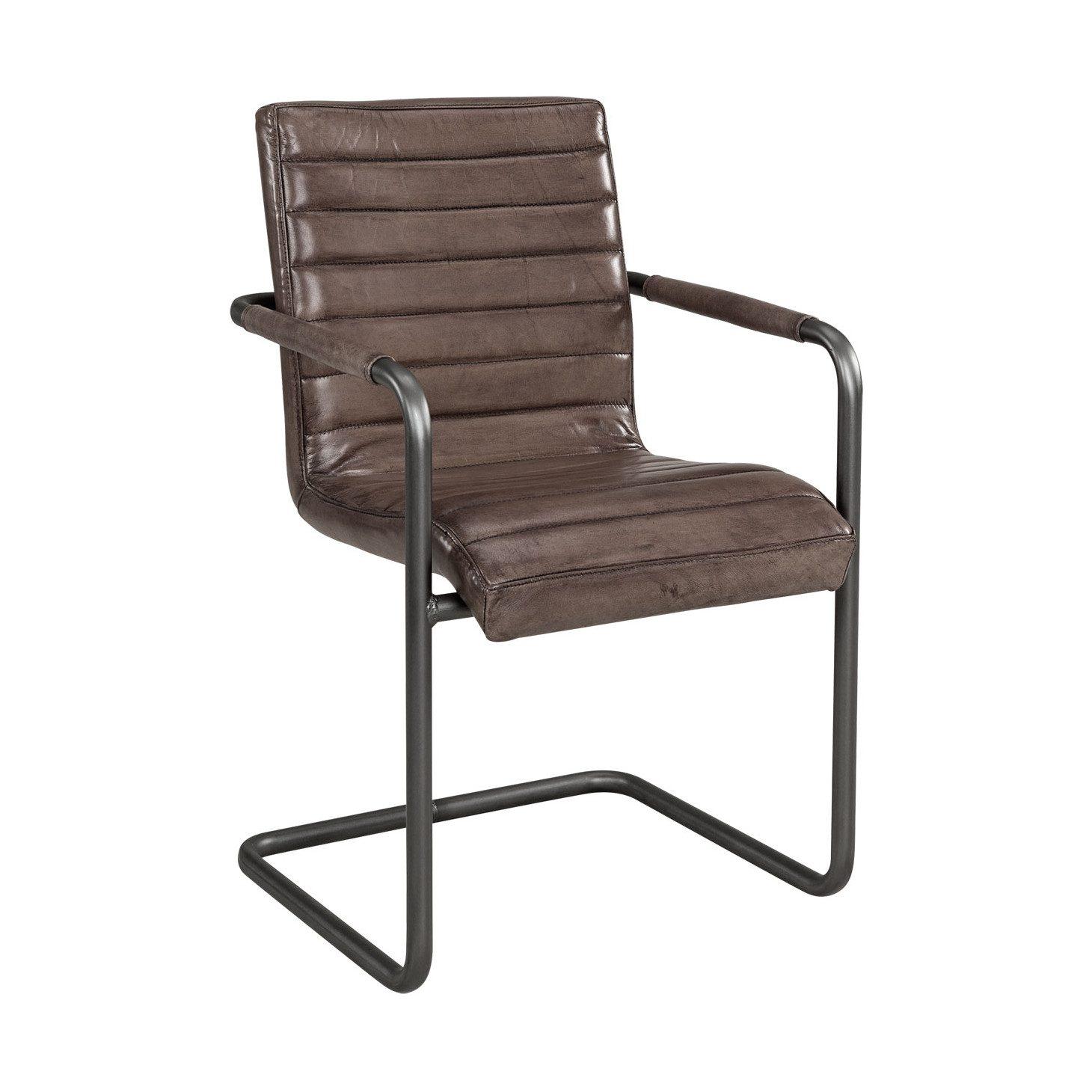 Sabina stol i leather lampre i mörkbrun färg från Artwood.