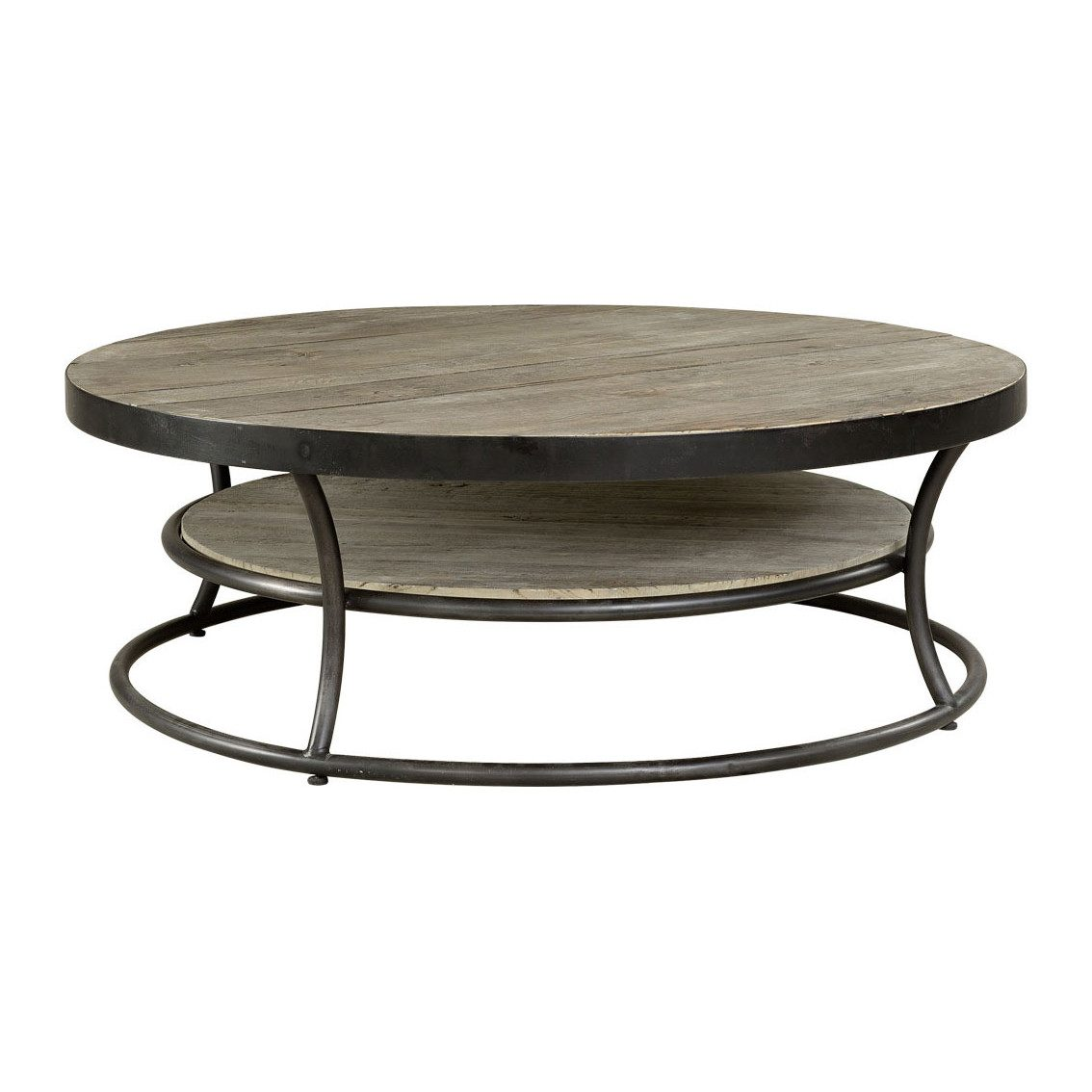 Ett runr botd där bordsskivorna är av Elmwood och stommen av järn 120 cm i diameter från Artwood.