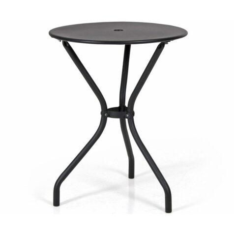 Odessa cafébord i svart med diametern 60 cm.