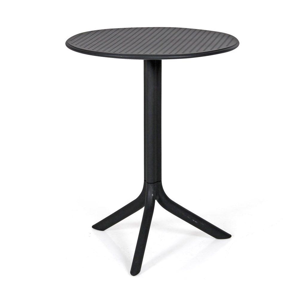 Step cafébord i antracitgrått.