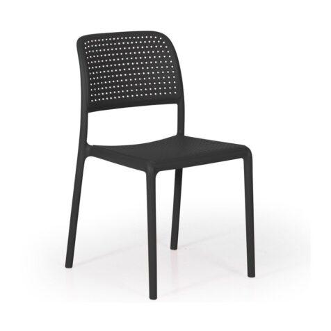 Bora Bistrot stol i antracitgrå.