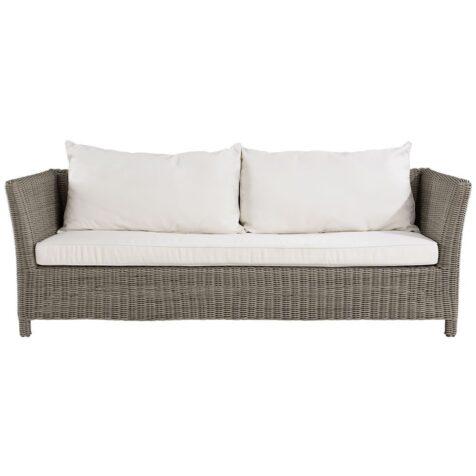 Agusta soffa i grå konstrotting med vita dynor från Artwood.