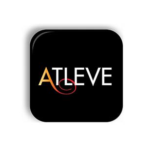 Logotyp för varumärket Atleve.