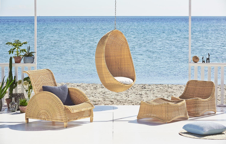 Paris stol, The Hanging Egg Chair och Chil fåtölj från Sika Design.