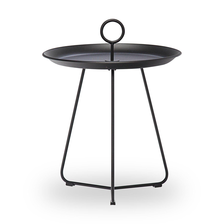 Eyelet sidobord med diameter 45 cm i svart.