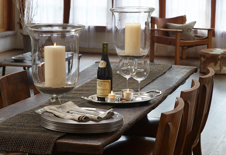 Miljöbild på Ljuminaraljus på ett matbord.