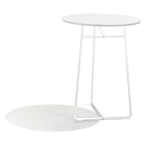 Resö bord i vitt med diametern 60 cm.