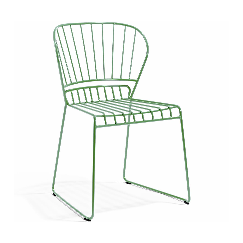 Resö matstol i ljusgrönt från Skargaarden.