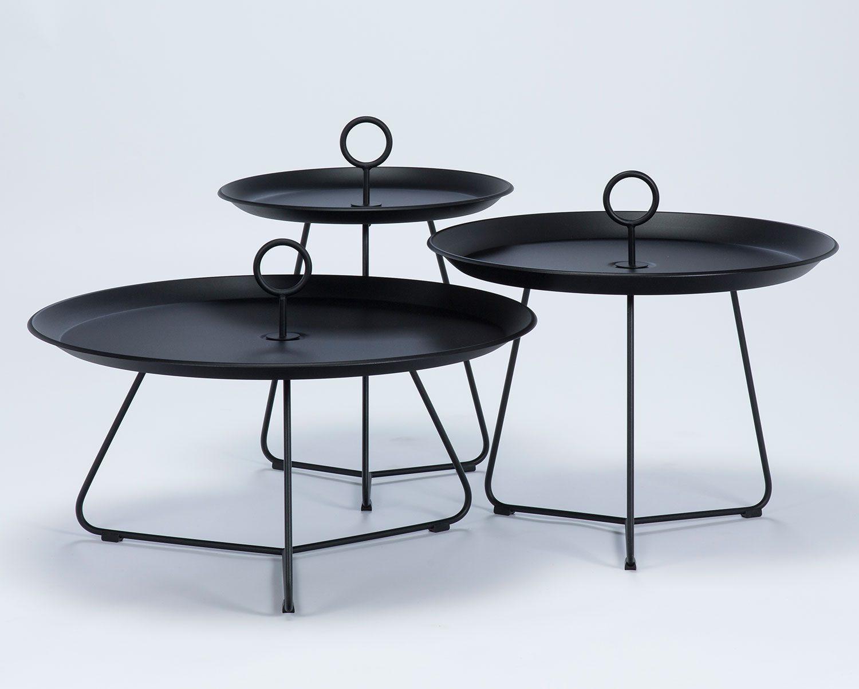 Eyelet sidobord i tre olika storlekar, här i svart.