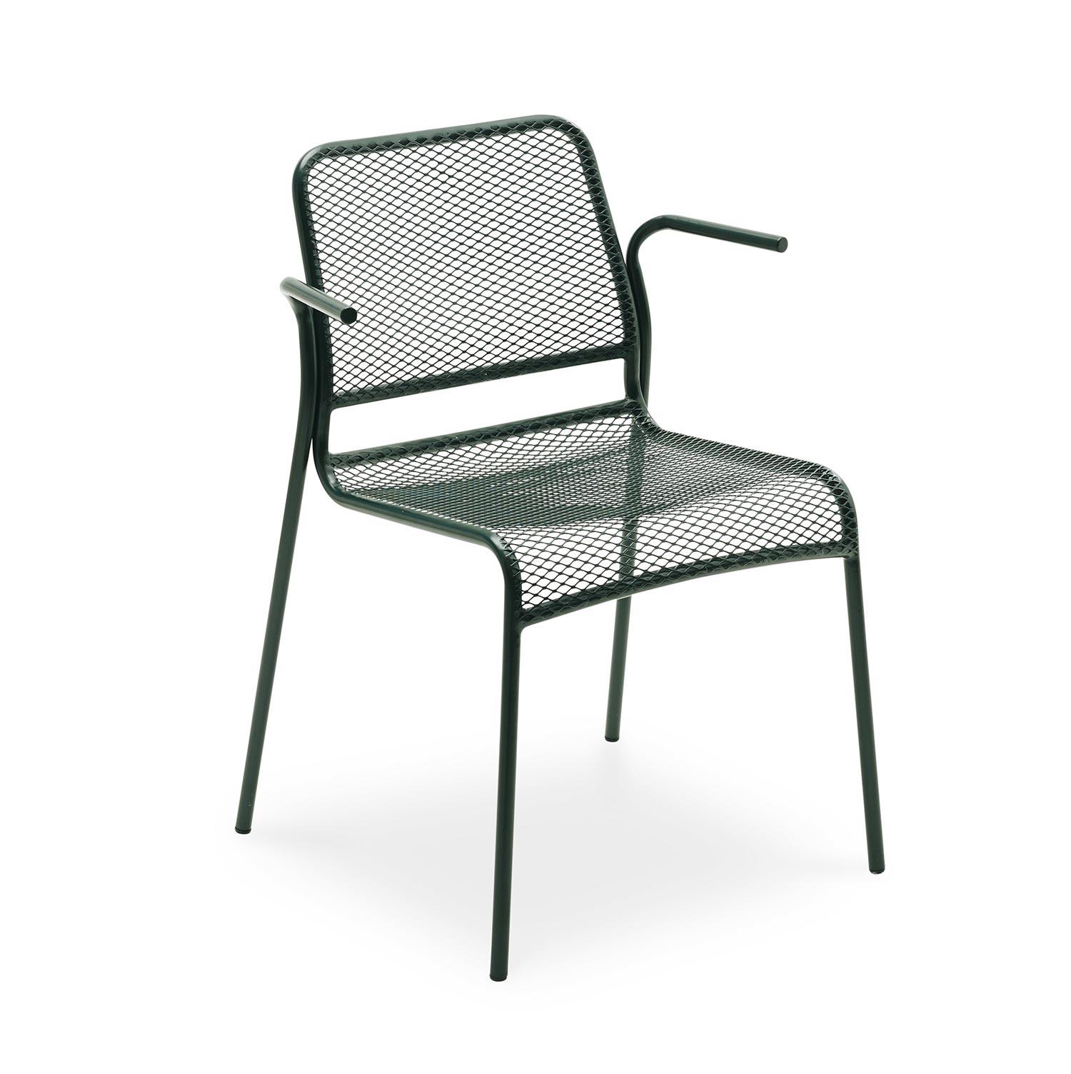 Mira karmstol i skogsgrönt stål från Skagerak.