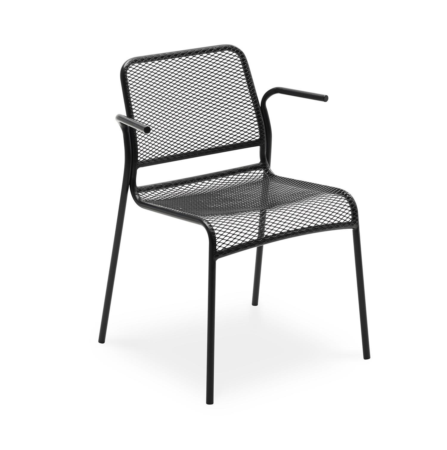 Mira karmstol i antracitgrått stål från Skagerak.