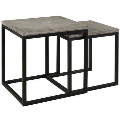 Yoshi sidobord i betong och stål.
