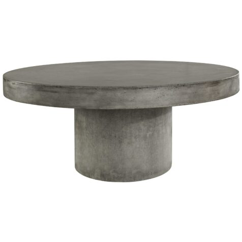 Regent soffbord i lättbetong med diametern 120 cm.