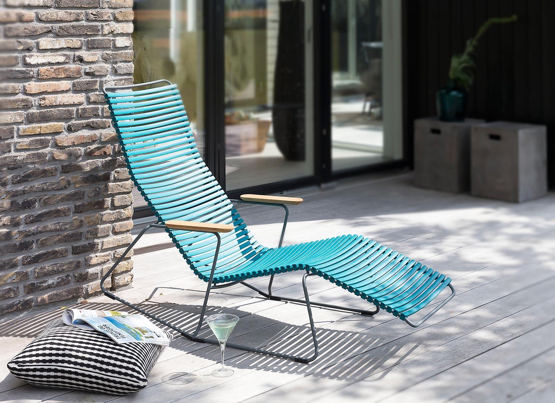 Click sunlounger i blått från danska Houe.