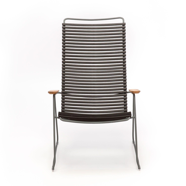 Click loungechair med svarta plastlameller från Houe.