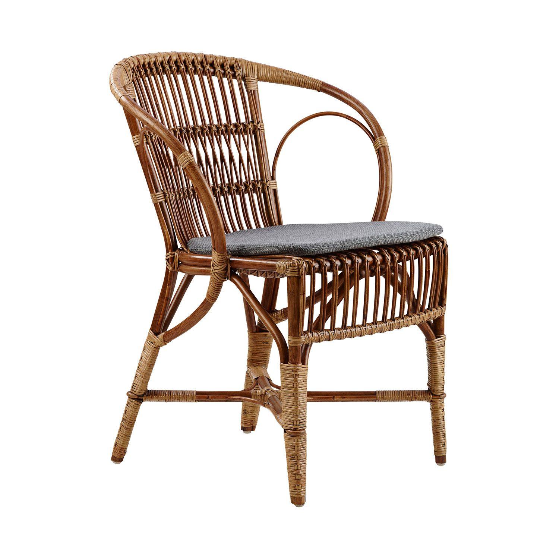Wengler stol från Sika Design i färgen antik med sittdyna.