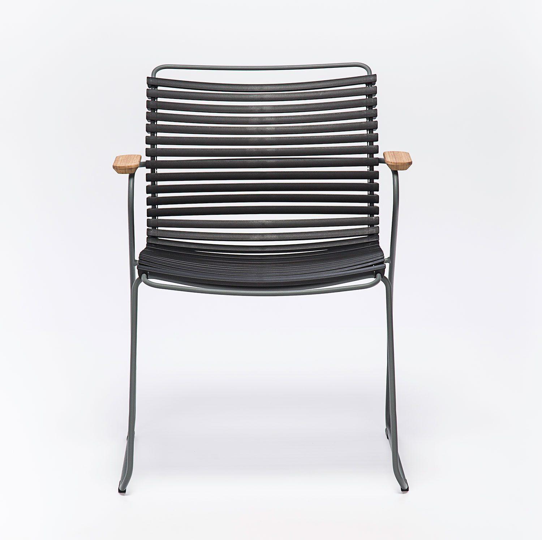 Click karmstol med svarta plastlameller från danska Houe.
