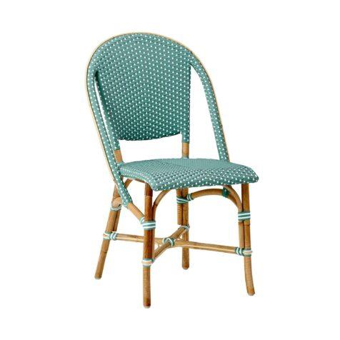 Sofie caféstol i grönt fårn Sika-Design.
