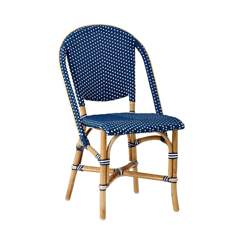 Sofie stol i blått av naturrotting och konstrotting från Sika-Design.