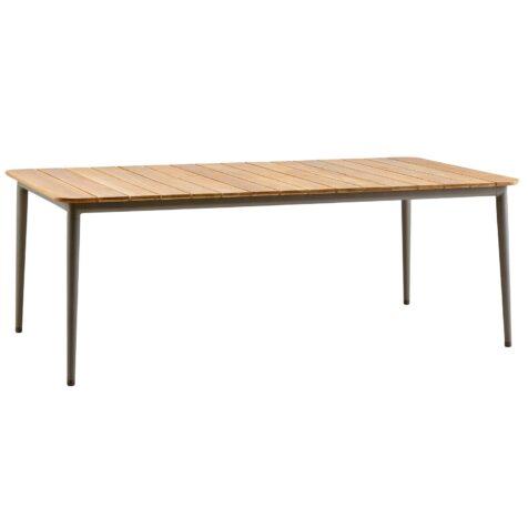 Core matbord med storleken 210x100 cm i färgen taupe.