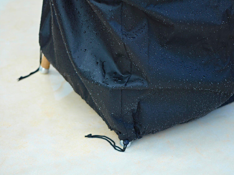 Detaljbild på stapelstolsskydd från Cane-line.