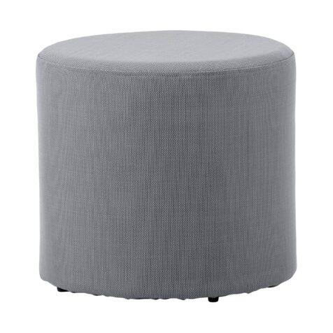 Rest fotpall / sidobord i grå Caneline Tex.