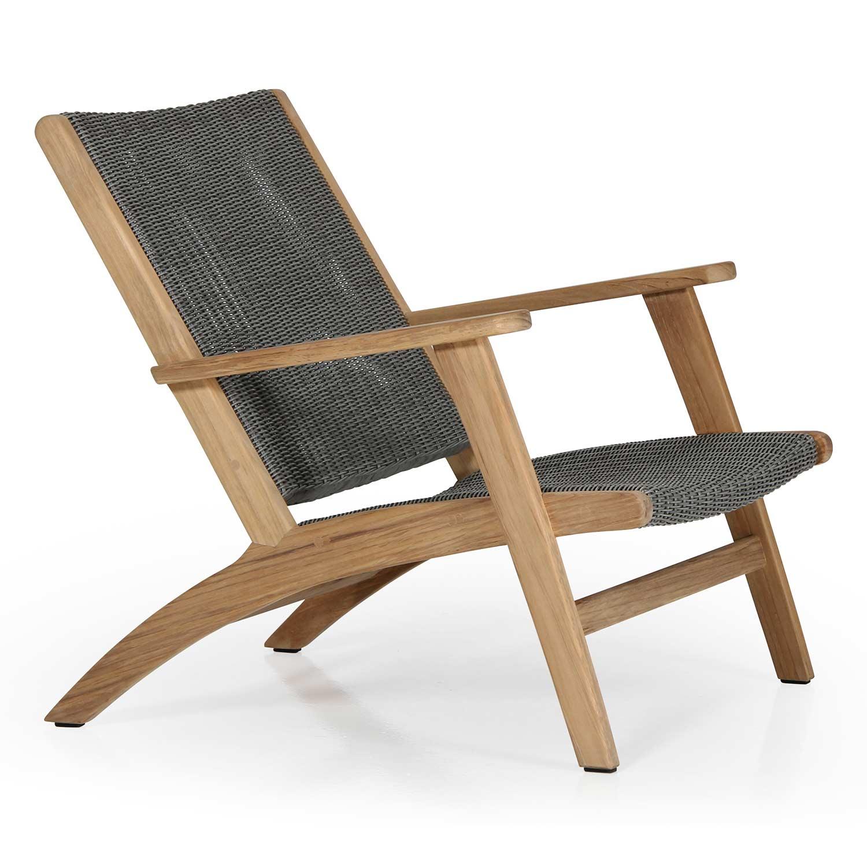 Kira loungestol från Brafab i teak och konstrotting.