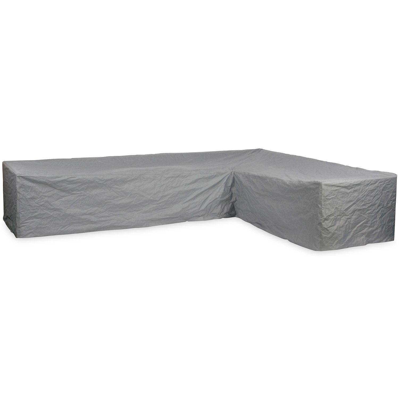 Hörnsoffskydd från Brafab i grå mycket kraftig polyester.