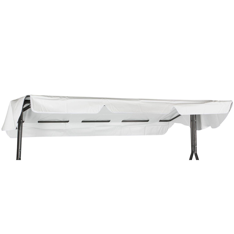 Hammocktak i vit PVC-plast med tre olika infästningar.