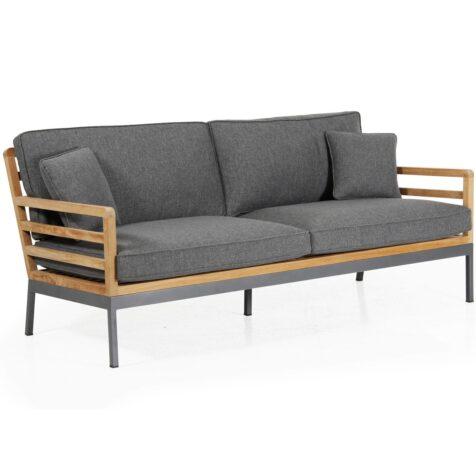 Zalongo 3-sitssoffa i teak och aluminium från Brafab.