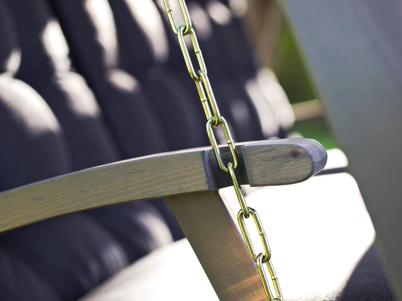 Detaljbild på Dalom hammock i grålaserad furu från Hillerstorp.