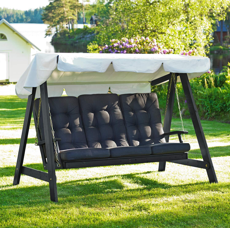 Dalom hammock i svartlasyr från Hillerstorp.