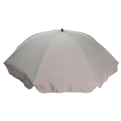 Parasoll 180 cm askgrått.