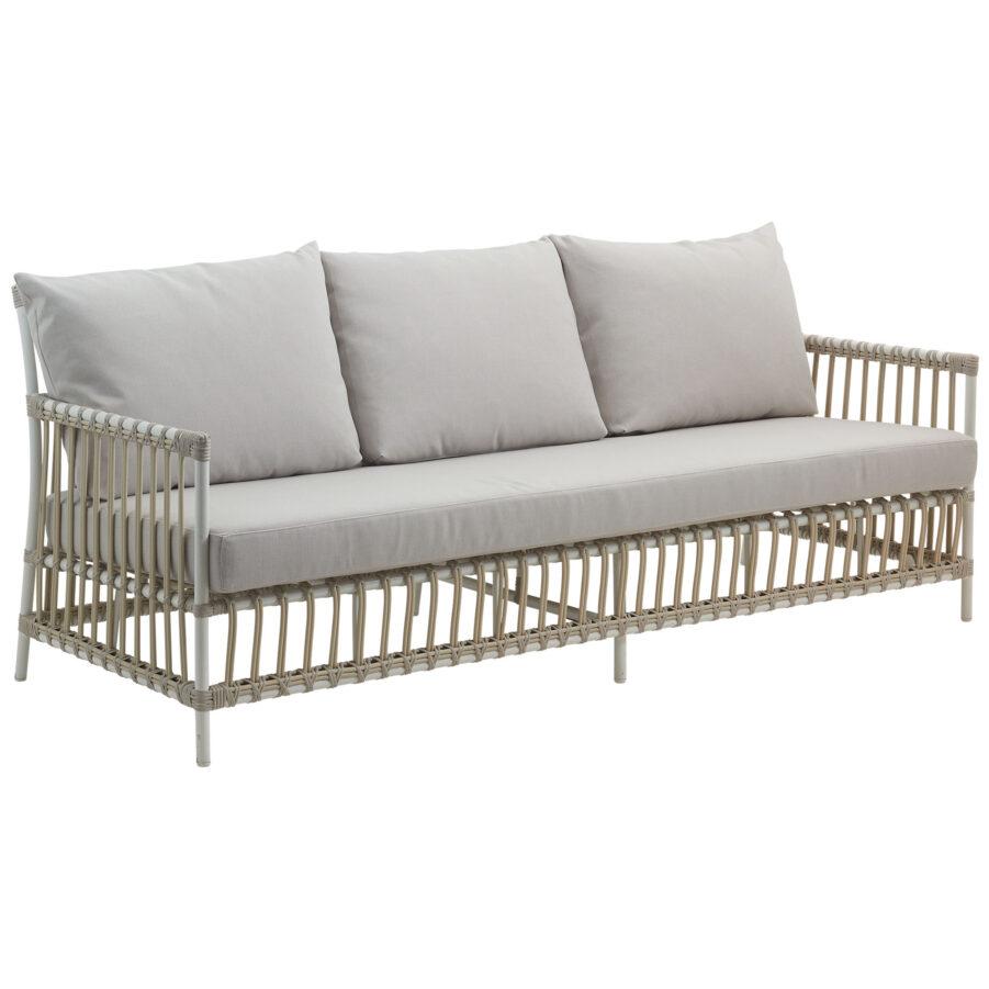 Sika-Design Caroline soffa i färgen dove med grå dyna.