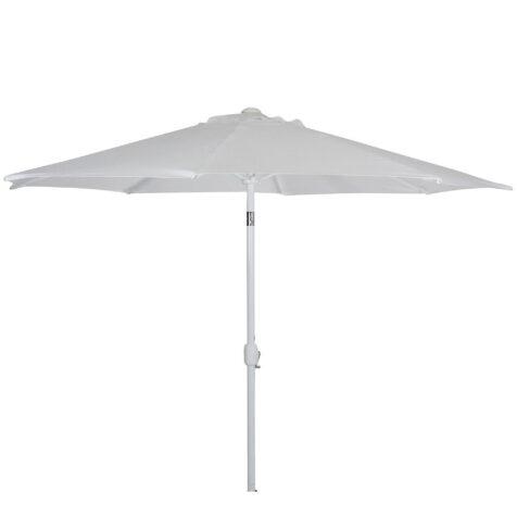 Andria parasoll i vitt utan parasollfot.