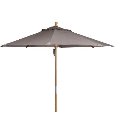 Reggio parasoll i färgen taupe.
