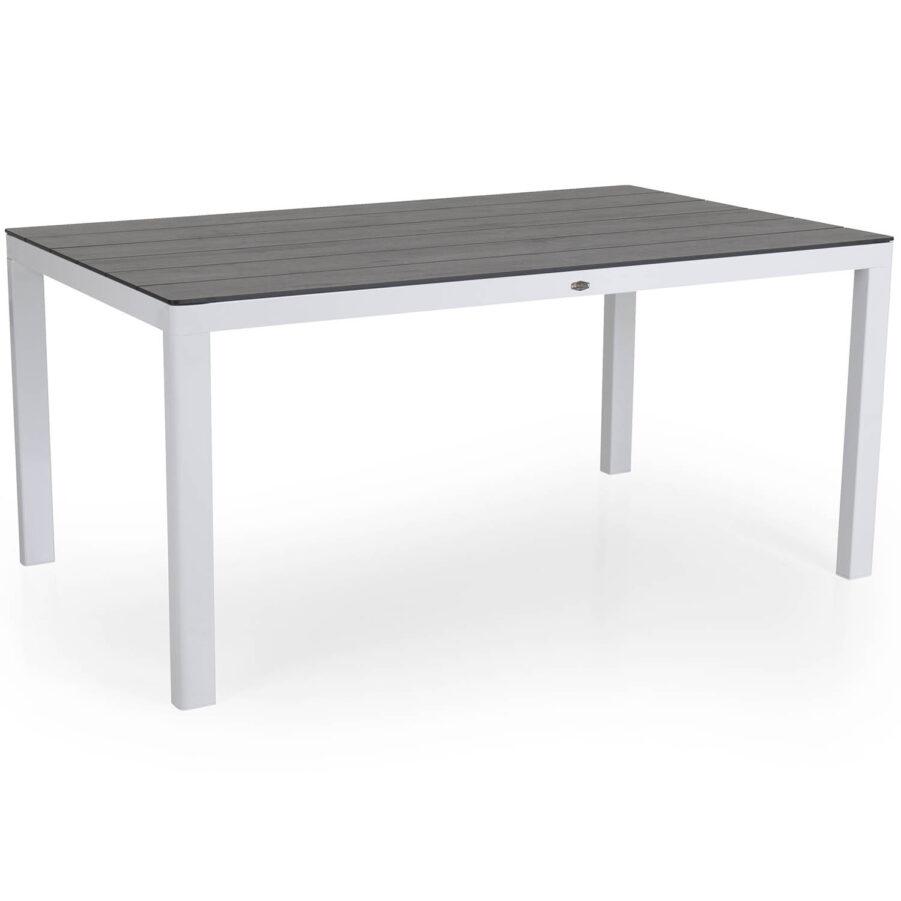Rodez matbord i vitt med grå laminatskiva.