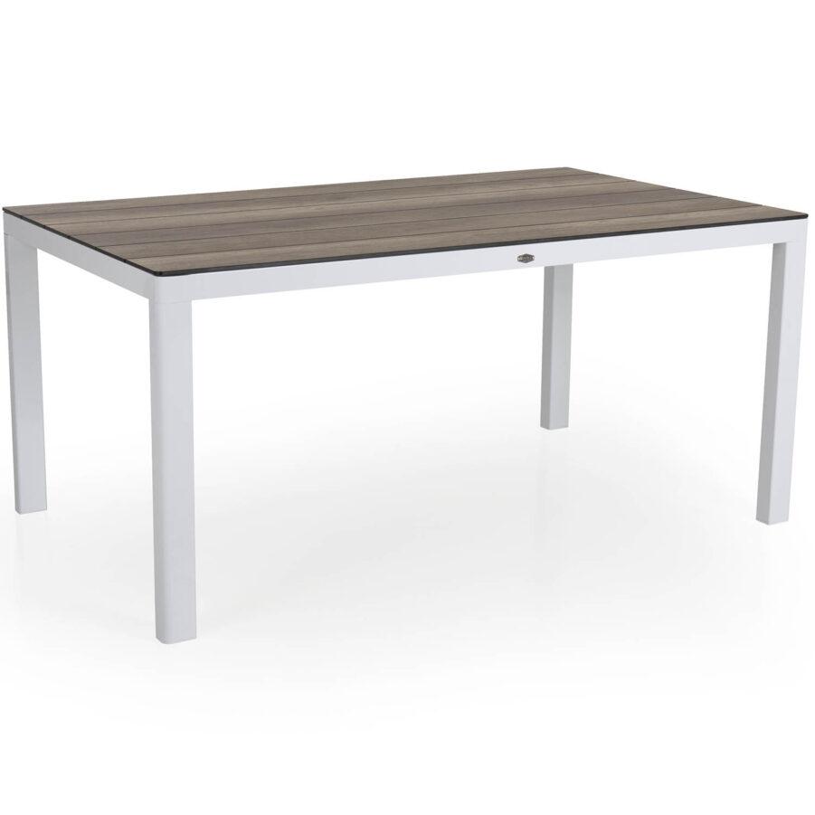Rodez bord i vitt med natur laminatskiva.