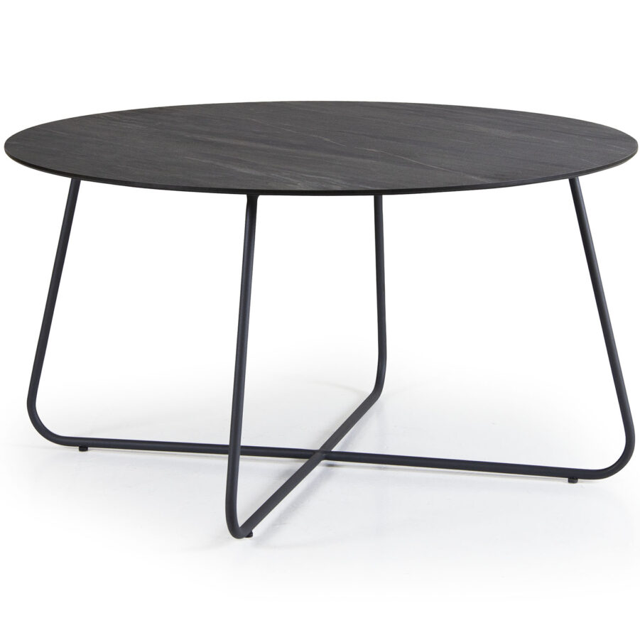 Taverny sofbord i svart med mörkgrå bordsskiva.
