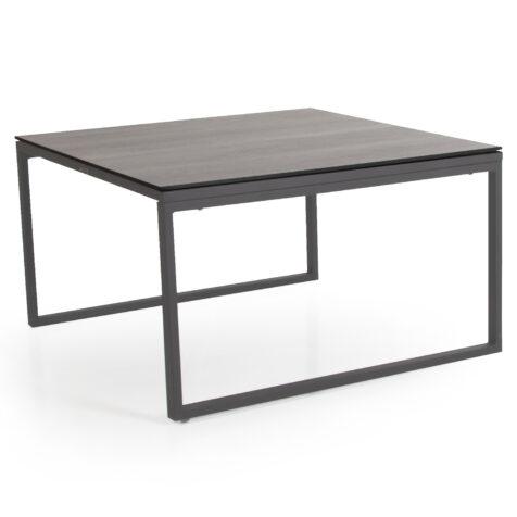 Talance stort soffbord med antracitfärgat stativ och grå laminatskiva.